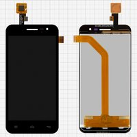 LCD for Jiayu G2F Cell Phone, (black, with touchscreen, with narrow flat cable) #TFT5K0397FPC-B1-E
