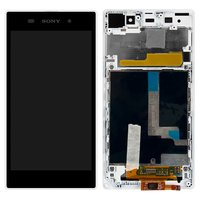 LCD for Sony C6902 L39h Xperia Z1, C6903 Xperia Z1, C6906 Xperia Z1, C6943 Xperia Z1 Cell Phones, (white, original (PRC), with touchscreen, with frame)