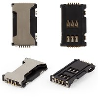 SIM Card Connector for Samsung C6712, I8262D Galaxy Core, S7560, S7562D Cell Phones, (dual SIM)