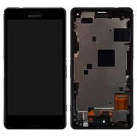 LCD for Sony D5803 Xperia Z3 Compact Mini, D5833 Xperia Z3 Compact Mini Cell Phones, (black, original (PRC), with touchscreen, with frame)