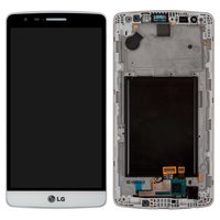 LCD for LG G3s D724 Cell Phone, (white, original (PRC), with touchscreen, with front panel)