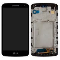 LCD for LG D620 G2 mini Cell Phone, (black, original (PRC), with touchscreen, with front panel)