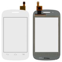 Touchscreen for Alcatel One Touch 4015 POP C1 Dual Sim Cell Phone, (white)