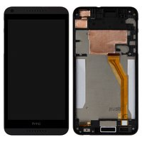 LCD for HTC Desire 816 Cell Phone, (black, with touchscreen, with front panel, yellow flat cable)