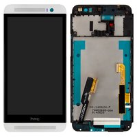 LCD for HTC One E8 Dual Sim Cell Phone, (white, with touchscreen, with front panel)