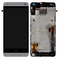 LCD for HTC One mini 601n Cell Phone, (white, with touchscreen, with front panel)