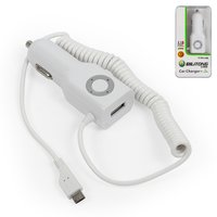 Car Charger Bilitong micro-USB for All Brands universal Cell Phone, (white, 12 v, (output 5V 1A), (USB output 5V 2,1A))