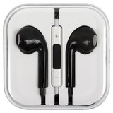 Headphone compatible with Apple Cell Phones; Apple Tablets; Apple MP3-Players, (black, TRRS 3.5 mm)>