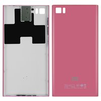 Battery Back Cover for Xiaomi Mi3 Cell Phone, (pink, TD-SCDMA)