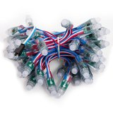 LED RGB Pixel Module (50 pcs., WS2811, DC 5 V, 12 mm, IP68)