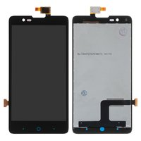 LCD for ZTE V5 Lux, V5 Redbull V9180 Cell Phones, (black, with touchscreen)