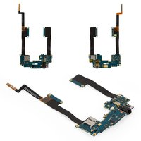 Flat Cable for HTC One Max 803n Cell Phone, (headphone connector, with components, with memory card connector)
