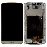 LCD for LG G3 D855 Cell Phone, (golden, original (PRC), with touchscreen, with front panel)