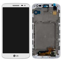 LCD for LG D620 G2 mini Cell Phone, (white, original (PRC), with touchscreen, with front panel)