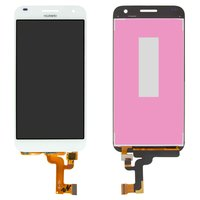 LCD for Huawei Ascend G7 Cell Phone, (white, with touchscreen)