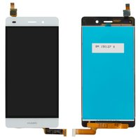 LCD for Huawei P8 Lite (ALE L21) Cell Phone, (white, with touchscreen)
