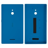 Housing Back Cover for Nokia XL Dual Sim Cell Phone, (blue, with side button)