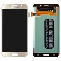 LCD for Samsung G928 Galaxy S6 EDGE+ Cell Phone, (golden, with touchscreen)