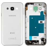 Housing for Samsung E500H/DS Galaxy E5 Cell Phone, (white, with side button)