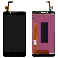 LCD for Lenovo A6000 Cell Phone, (black, with touchscreen)