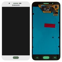 LCD for Samsung A800F Dual Galaxy A8 Cell Phone, (white, with touchscreen)