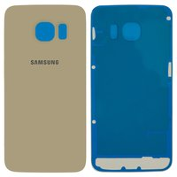 Housing Back Cover for Samsung G925F Galaxy S6 EDGE Cell Phone, (golden, high copy)