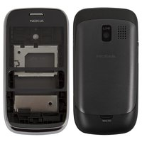 Housing for Nokia 302 Asha Cell Phone, (grey, high copy)
