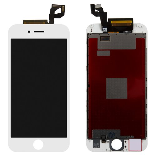 LCD iPhone 6S, (white, with touchscreen, with frame, Original PRC