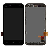 LCD for Xiaomi Mi2, Mi2S Cell Phones, (black, with touchscreen, with front panel)