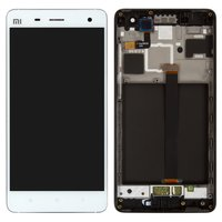 LCD for Xiaomi Mi4 Cell Phone, (white, original (PRC), with touchscreen, with front panel)
