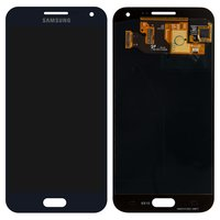 LCD for Samsung E500H/DS Galaxy E5 Cell Phone, (dark blue, with touchscreen)