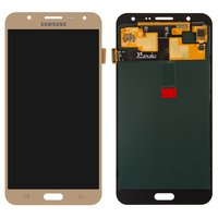 LCD for Samsung J700F/DS Galaxy J7, J700H/DS Galaxy J7, J700M/DS Galaxy J7 Cell Phones, (golden, with touchscreen)