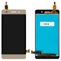 LCD for Huawei Honor 4C Cell Phone, (golden, with touchscreen)