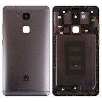 Housing Back Cover for Huawei Ascend Mate 7 Cell Phone, (black, with side button, without SIM card tray)