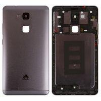 e3ef1f85f19 Panel trasero de carcasa Huawei Ascend Mate 7, negra, sin bandeja para  tarjeta SIM, con botones laterales