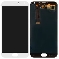 LCD for Meizu MX5 Cell Phone, (white, with touchscreen)