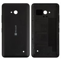 Housing Back Cover for Microsoft (Nokia) 640 Lumia Cell Phone, (black, with side button)