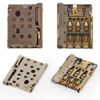 SIM Card Connector compatible with Sony E5333 Xperia C4 Dual, E5343 Xperia  C4 Dual, E5363 Xperia C4 Dual