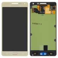 LCD for Samsung A500F Galaxy A5, A500FU Galaxy A5, A500H Galaxy A5 Cell Phones, (golden, with touchscreen)