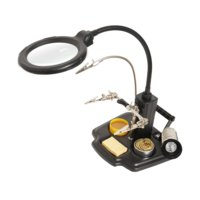 PCB Holder with LED Magnifier and Soldering Iron Holder Pro'sKit SN-396