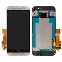 LCD for HTC One M9 Cell Phone, (light golden, with touchscreen, with front panel)