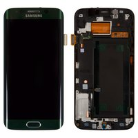 LCD for Samsung G925F Galaxy S6 EDGE Cell Phone, (green, with touchscreen, green emerald)