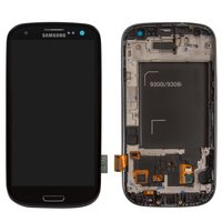 LCD for Samsung I9300i Galaxy S3 Duos, I9301 Galaxy S3 Neo Cell Phones, (black, with touchscreen, with front panel)