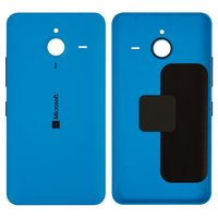 Housing Back Cover for Microsoft (Nokia) 640 XL Lumia Dual SIM Cell Phone, (dark blue, with side button)