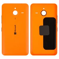 Housing Back Cover for Microsoft (Nokia) 640 XL Lumia Dual SIM Cell Phone, (orange, with side button)