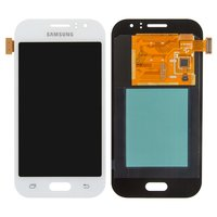 LCD for Samsung J110G Galaxy J1 Ace, J110H/DS Galaxy J1 Ace, J110L Galaxy J1 Ace, J110M Galaxy J1 Ace Cell Phones, (white, with touchscreen)