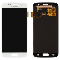 LCD for Samsung G930F Galaxy S7 Cell Phone, (white, with touchscreen)
