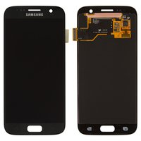 LCD for Samsung G930F Galaxy S7 Cell Phone, (black, with touchscreen)