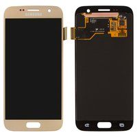 LCD for Samsung G930F Galaxy S7 Cell Phone, (golden, with touchscreen)