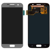 LCD for Samsung G930F Galaxy S7 Cell Phone, (silver, with touchscreen)